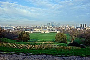 Greenwich Park s námořní akademií