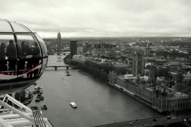 Temže z London Eye