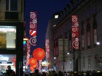 Vánoční dekorace centra Vídně