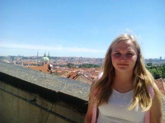 Na vyhlídce z Pražského hradu
