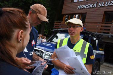 Liberec 155, simulace záchranné akce při pádu lanovky na Ještědu